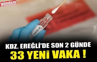 KDZ. EREĞLİ'DE SON 2 GÜNDE 33 YENİ VAKA !