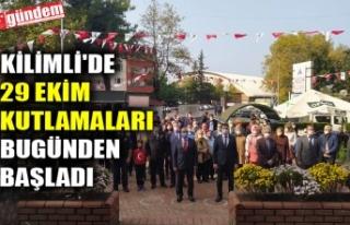 KİLİMLİ'DE 29 EKİM KUTLAMALARI BUGÜNDEN...