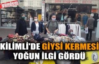 KİLİMLİ'DE GİYSİ KERMESİ YOĞUN İLGİ...