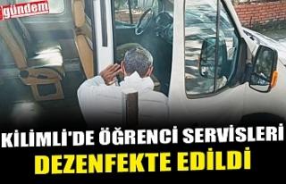KİLİMLİ'DE ÖĞRENCİ SERVİSLERİ DEZENFEKTE...