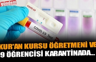 KUR'AN KURSU ÖĞRETMENİ VE 9 ÖĞRENCİSİ...
