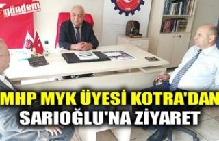 MHP MYK ÜYESİ KOTRA'DAN SARIOĞLU'NA ZİYARET