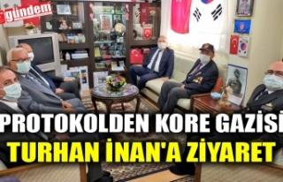 PROTOKOLDEN KORE GAZİSİ TURHAN İNAN'A ZİYARET