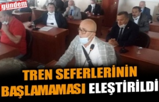 TREN SEFERLERİNİN BAŞLAMAMASI ELEŞTİRİLDİ