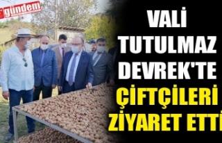 VALİ TUTULMAZ DEVREK'TE ÇİFTÇİLERİ ZİYARET...