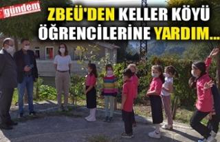 ZBEÜ'DEN KELLER KÖYÜ ÖĞRENCİLERİNE YARDIM...