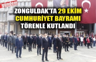 ZONGULDAK'TA 29 EKİM CUMHURİYET BAYRAMI TÖRENLE...