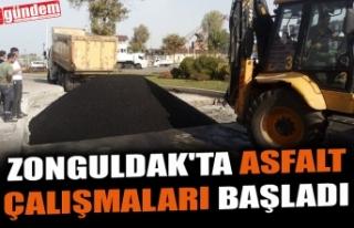 ZONGULDAK'TA ASFALT ÇALIŞMALARI BAŞLADI