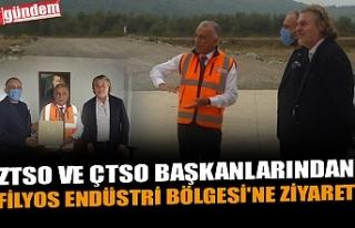 ZTSO VE ÇTSO BAŞKANLARINDAN FİLYOS ENDÜSTRİ BÖLGESİ'NE...