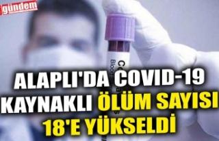 ALAPLI'DA COVID-19 KAYNAKLI ÖLÜM SAYISI 18'E...