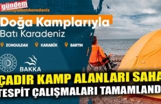 Çadır Kamp Alanları Saha Tespit Çalışmaları...