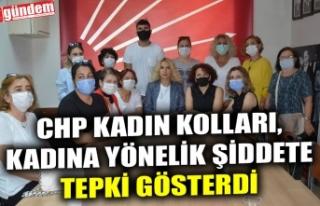 CHP KADIN KOLLARI, KADINA YÖNELİK ŞİDDETE TEPKİ...