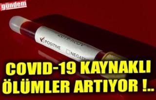 COVID-19 KAYNAKLI ÖLÜMLER ARTIYOR !..