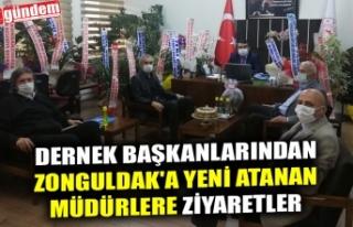 DERNEK BAŞKANLARINDAN ZONGULDAK'A YENİ ATANAN...