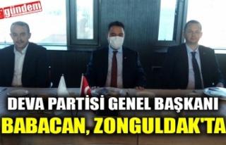 DEVA PARTİSİ GENEL BAŞKANI BABACAN, ZONGULDAK'TA