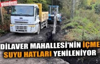 DİLAVER MAHALLESİ'NİN İÇME SUYU HATLARI...