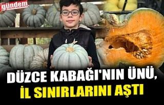 DÜZCE KABAĞI'NIN ÜNÜ, İL SINIRLARINI AŞTI