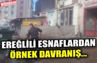 EREĞLİLİ ESNAFLARDAN ÖRNEK DAVRANIŞ...