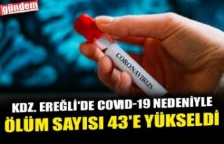 KDZ. EREĞLİ'DE COVID-19 NEDENİYLE ÖLÜM SAYISI...