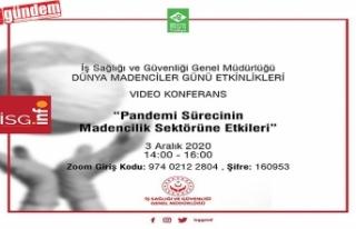MADENCİLİK SEKTÖRÜNDE PANDEMİ ETKİSİ KONULU...