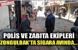POLİS VE ZABITA EKİPLERİ ZONGULDAK'TA SİGARA...