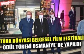 TÜRK DÜNYASI BELGESEL FİLM FESTİVALİ ÖDÜL TÖRENİ...