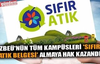 ZBEÜ'NÜN TÜM KAMPÜSLERİ 'SIFIR ATIK...
