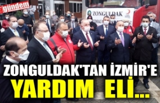 ZONGULDAK'TAN İZMİR'E YARDIM  ELİ...
