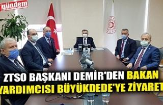 ZTSO BAŞKANI DEMİR'DEN BAKAN YARDIMCISI BÜYÜKDEDE'YE...