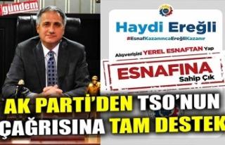 AK PARTİ'DEN TSO'NUN ÇAĞRISINA TAM DESTEK