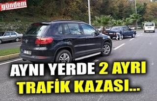 AYNI YERDE 2 AYRI TRAFİK KAZASI...