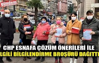 CHP ESNAFA ÇÖZÜM ÖNERİLERİ İLE İLGİLİ BİLGİLENDİRME...