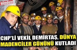 CHP'Lİ VEKİL DEMİRTAŞ, DÜNYA MADENCİLER...