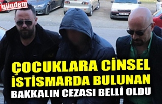 ÇOCUKLARA CİNSEL İSTİSMARDA BULUNAN BAKKALIN CEZASI...