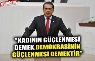 """DEMİRTAŞ; """"KADININ GÜÇLENMESİ DEMEK,DEMOKRASİNİN..."""