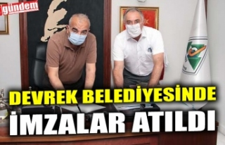 DEVREK BELEDİYESİNDE İMZALAR ATILDI