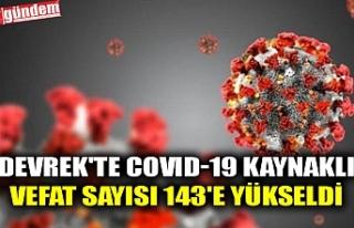 DEVREK'TE COVID-19 KAYNAKLI VEFAT SAYISI 143'E...