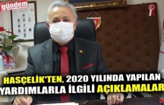 HASÇELİK'TEN, 2020 YILINDA YAPILAN YARDIMLARLA...