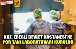 KDZ. EREĞLİ DEVLET HASTANESİ'NE PCR TANI LABORATUVARI...