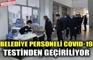 KDZ. EREĞLİ BELEDİYESİ PERSONELİ COVID-19 TESTİNDEN...