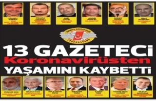 Türkiye'de koronavirüsten 13 gazeteci hayatını...