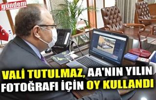 VALİ TUTULMAZ, AA'NIN YILIN FOTOĞRAFI İÇİN...