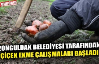 ZONGULDAK BELEDİYESİ TARAFINDAN ÇİÇEK EKME ÇALIŞMALARI...
