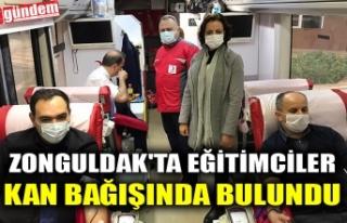 ZONGULDAK'TA EĞİTİMCİLER KAN BAĞIŞINDA...