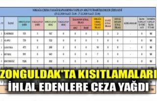 ZONGULDAK'TA KISITLAMALARI İHLAL EDENLERE CEZA...