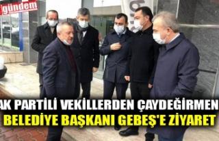 AK PARTİLİ VEKİLLERDEN ÇAYDEĞİRMENİ BELEDİYE...