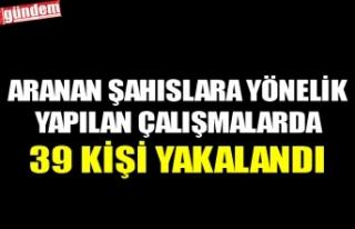 ARANAN ŞAHISLARA YÖNELİK YAPILAN ÇALIŞMALARDA...