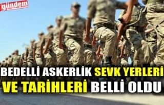 BEDELLİ ASKERLİK SEVK YERLERİ VE TARİHLERİ BELLİ...