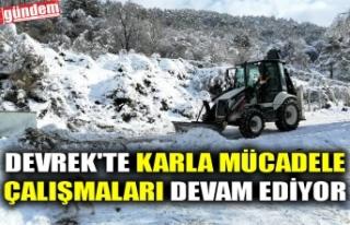 DEVREK'TE KARLA MÜCADELE ÇALIŞMALARI DEVAM...