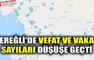 EREĞLİ'DE VEFAT VE VAKA SAYILARI DÜŞÜŞE...